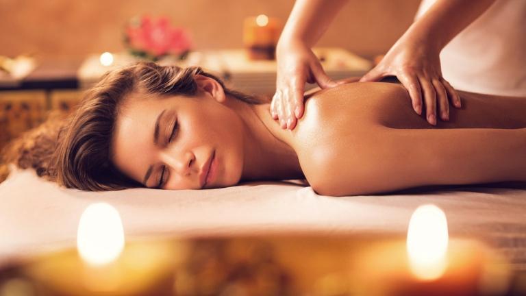 room with massage